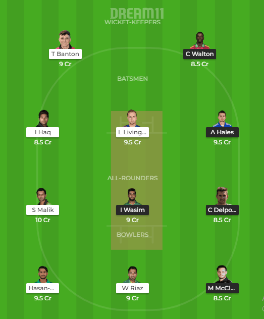 Karachi Kings vs Peshawar Zalmi Dream11 Team Prediction