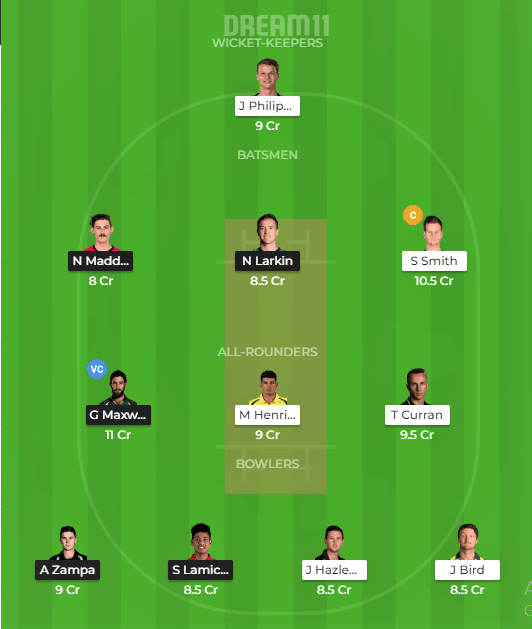 Melbourne Stars vs Sydney Sixers Dream11 Team Prediction