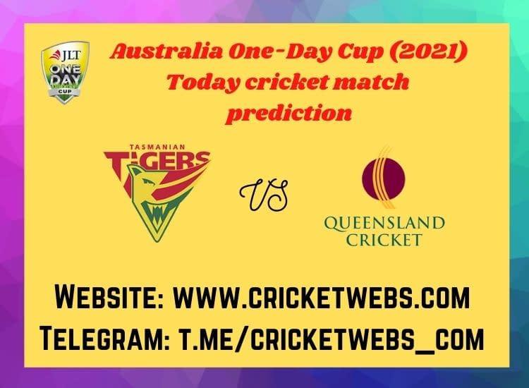 Who will win today's Tasmania vs Queensland 2nd ODI Australia Domestic One-Day Cup match prediction_
