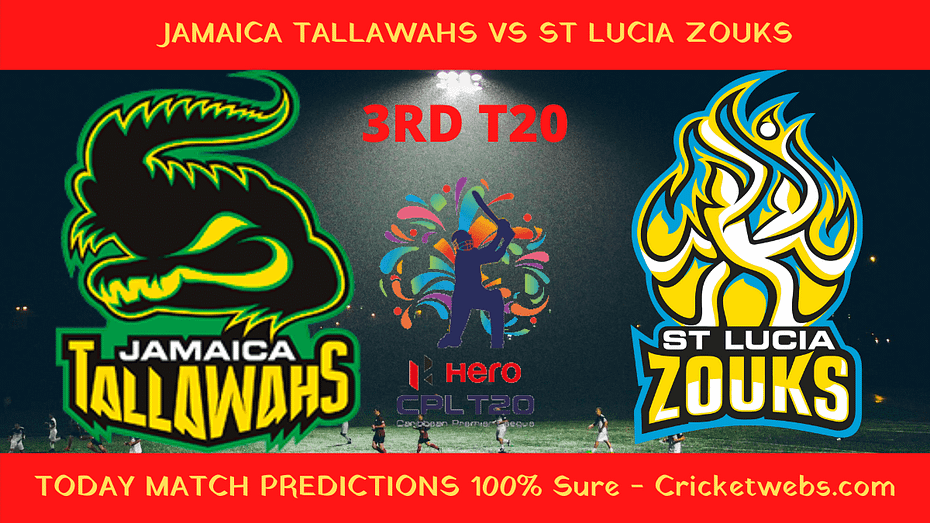 Who will win Jamaica Tallawahs vs St Lucia Zouks prediction